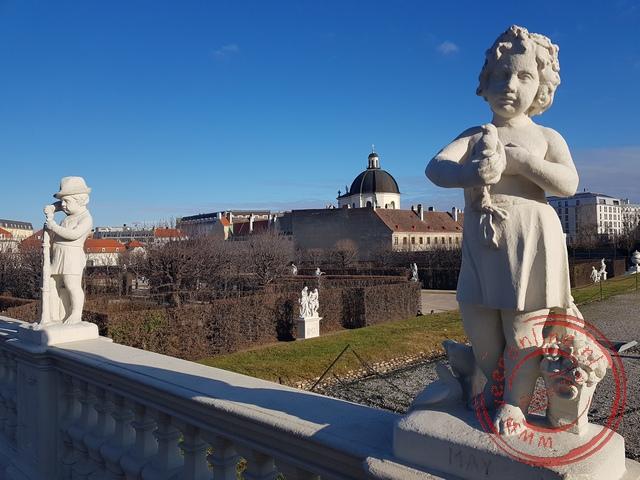 Enkele beelden in de Belvedere paleistuin