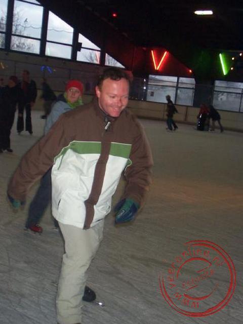 Rene op de schaats