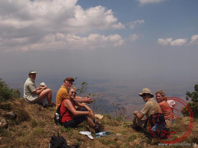 De hoogste top van het Zomba Plateau
