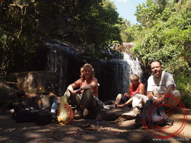 Een lunch bij de Williams Falls op het Zomba Plateau in Malawi