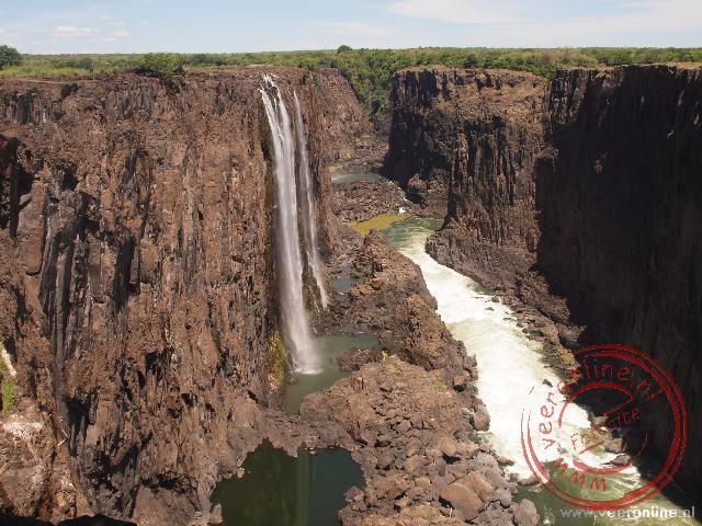 Al het water verzamelt zich in de Boiling Pot alvorens het richting Zimbabwe stroomt
