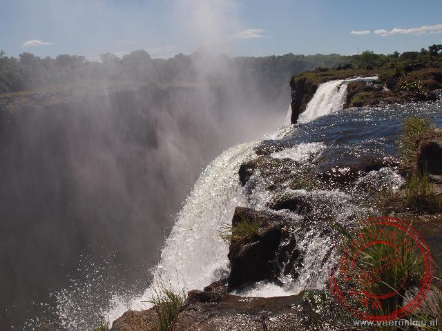 De Main Falls van de Victoria Falls Zambia