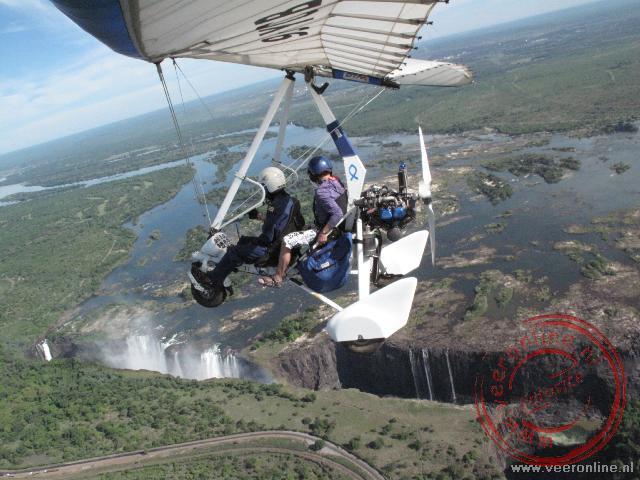 Met een Microflight boven de Victoriafalls heb je een prachtig uitzicht vanuit de lucht