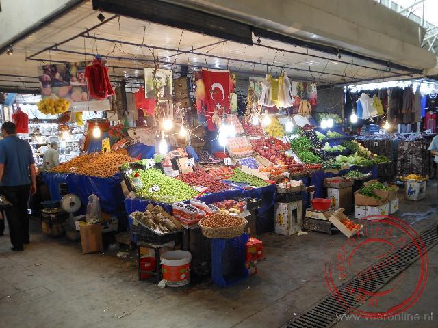 Een kraampje op de bazaar