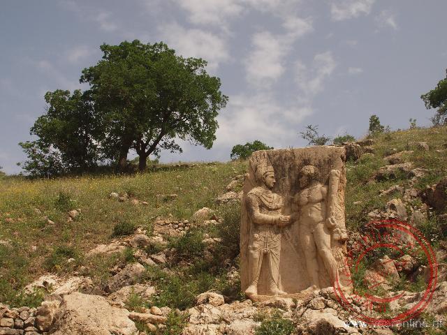 Het beeld van Antiochus en Hercules is het enige overblijfsel van de oude stad Arsameia
