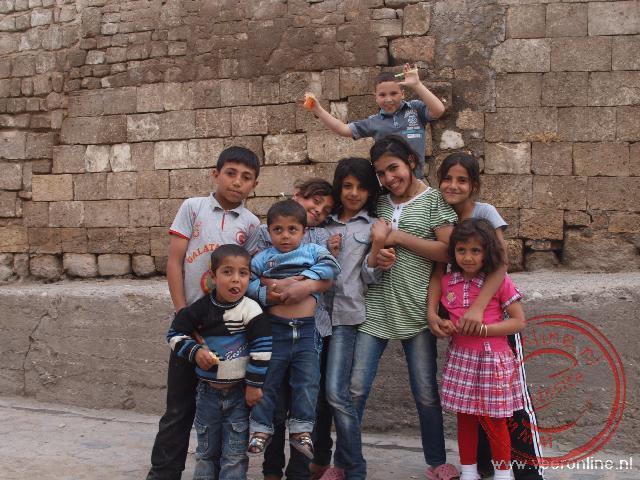 Kinderen in de oude stad van Sanliurfa