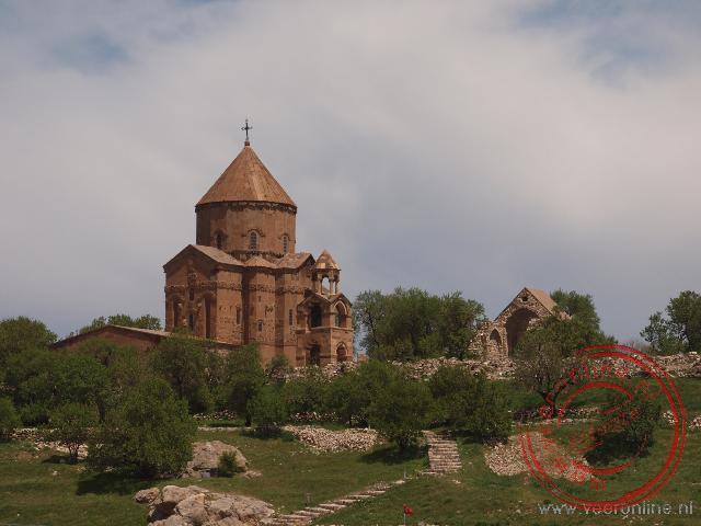 Het Armeens Orthodoxe kerkje op het Adkamar eiland in het Van meer