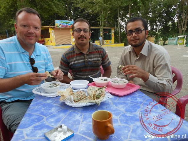 Een ontmoeting met Siamak en Keivan in het park in Sanandaj