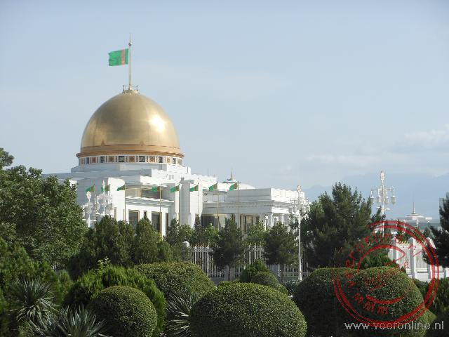 het paleis in het centrum van Ashgabat