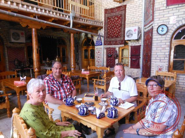 Het theehuis in Bukhara