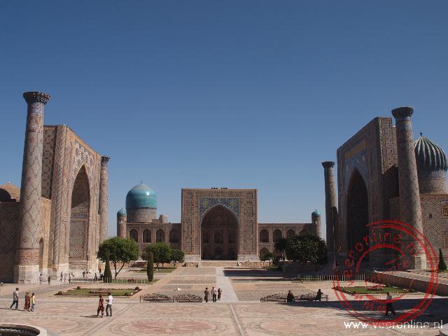 Het Registan plein in Samarkand