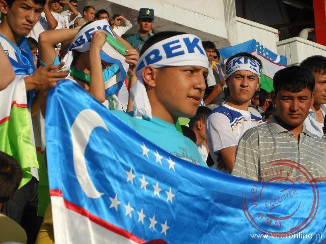 Een supporter voor oezbekistan