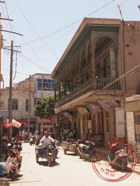 De resterende huizen in het oude centrum
