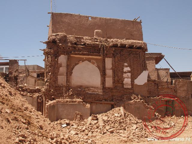 Veel oude lemen huizen moeten plaats maken voor nieuwbouw in kashgar