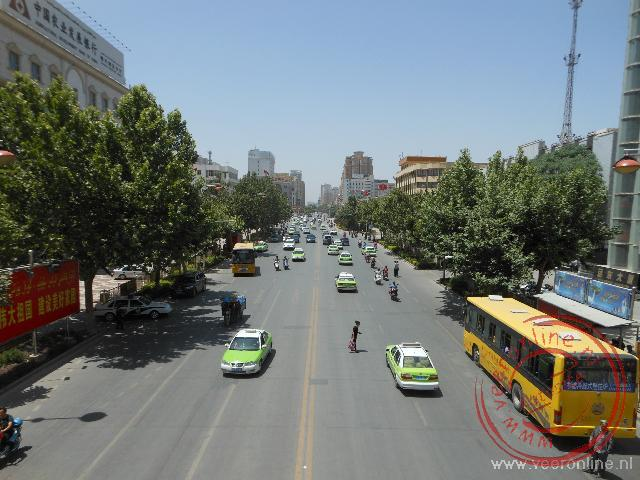 Het straatbeeld in Kashgar