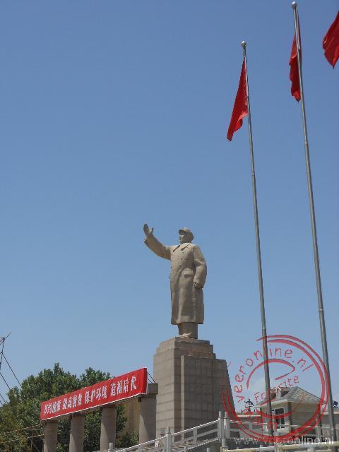 Het standbeeld van Mao in Kashgar