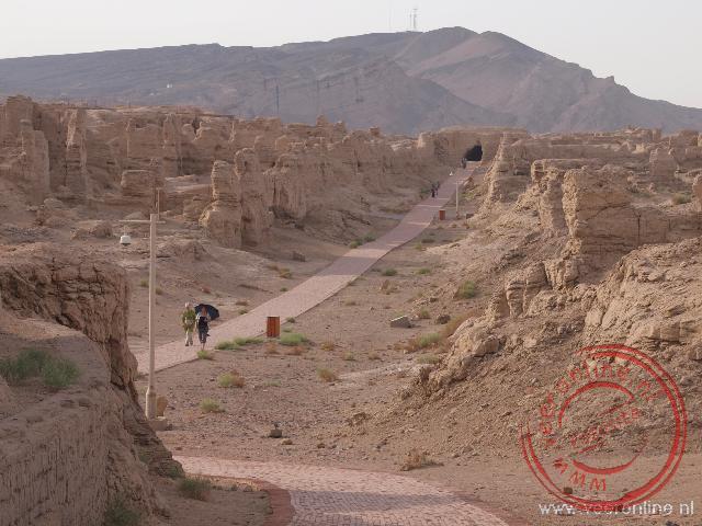 De oude garnizoensstad Jiaohe van rond de eerste eeuw voor Christus