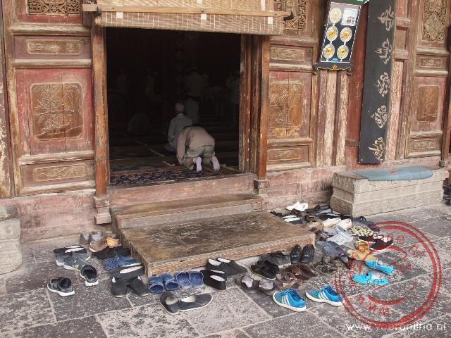 Het gebed in de vrijdagmoskee van Xian
