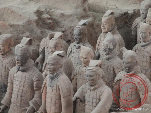 De details van het Terracotta leger in Xian