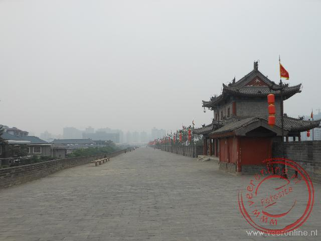 De stadsmuur van Xian
