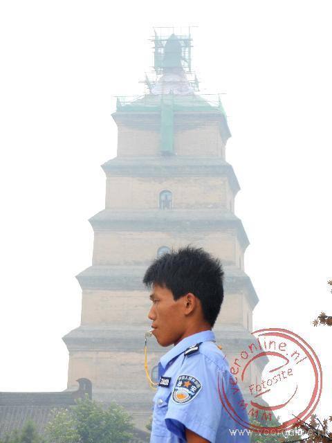 Een agent voor de Grote Gans pagode van Xian