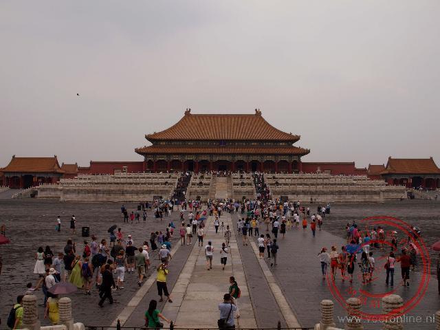 De keizerlijke paleizen in de Verboden Stad van Beijing