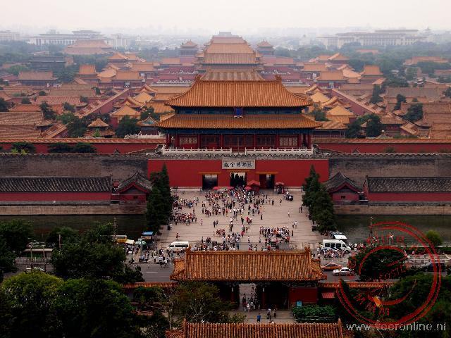 Overzicht van de Verboden Stad in centrum Beijing