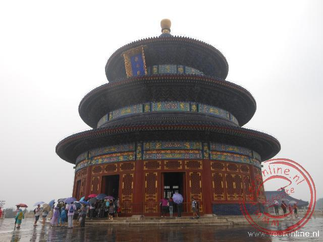 De  Hall of Prayer for Good Harvests bij de Temple of Heaven