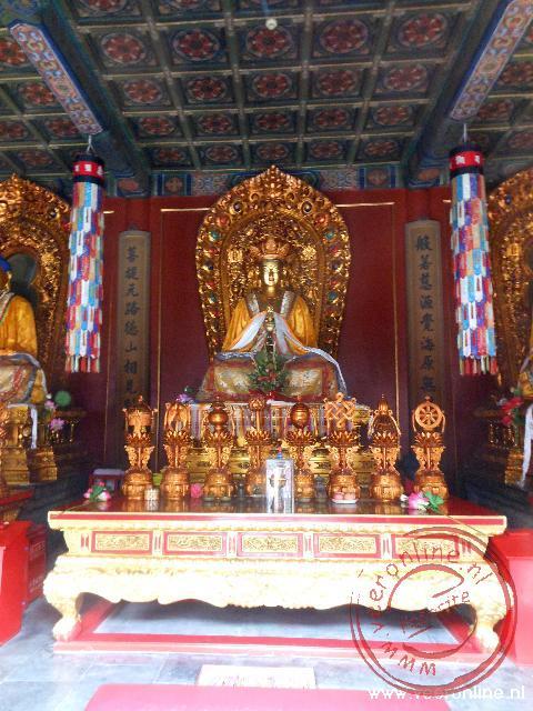 Het Boeddha-beeld in de Lamatempel in Beijing