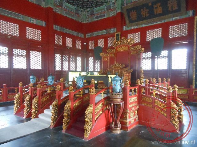 De troon in de Confuciustempel