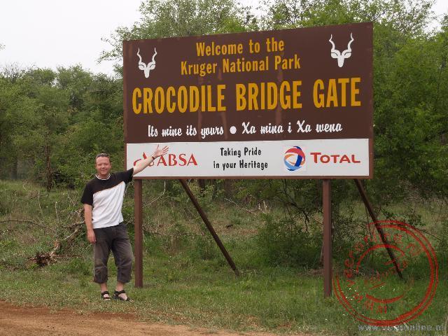 De ingang van het Krugerpark