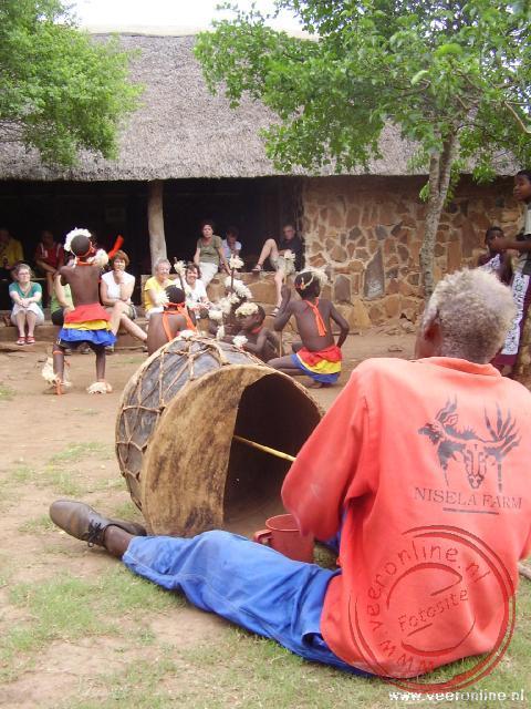 Een muzikaal optreden bij de lodge