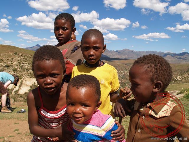 Kinderen in Malealea Lsotho