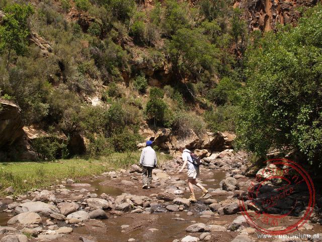 Een wandeling naar de waterval