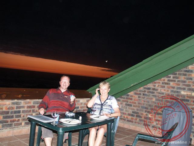 Op het terras van het appartement Tsitsikamma