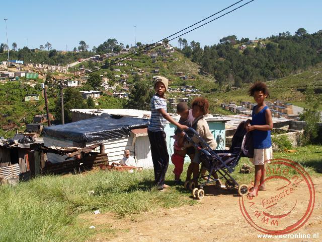Kinderen in de Township Knysna