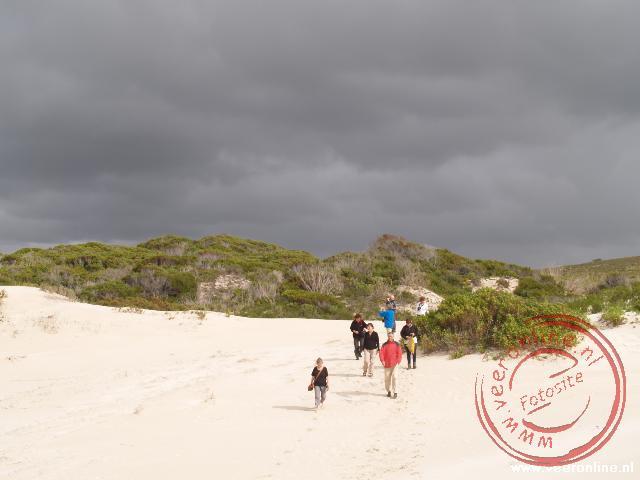 Het strand in het natuurpark De Hoop Nature Reserve
