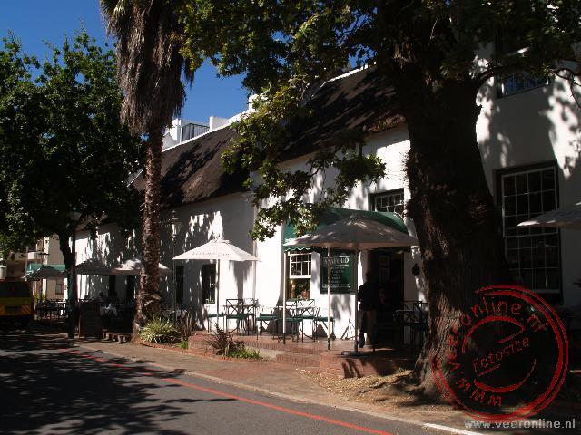 De karakteristieke huisjes in Stellenbosch