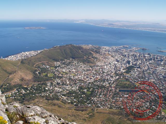 Uitzicht over Kaapstad vanaf de tafelberg
