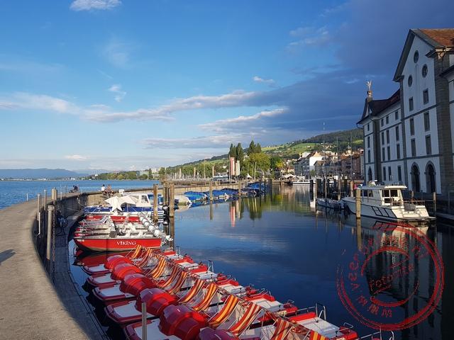 De haven van Rorschach aan de Bodensee