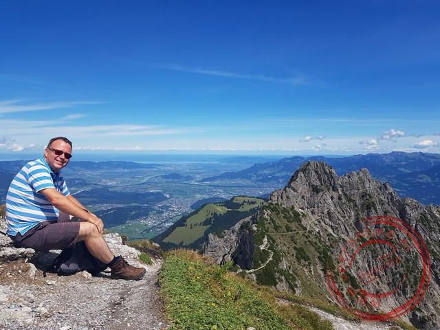 Uitzicht op de Drei Schwestern bergtoppen