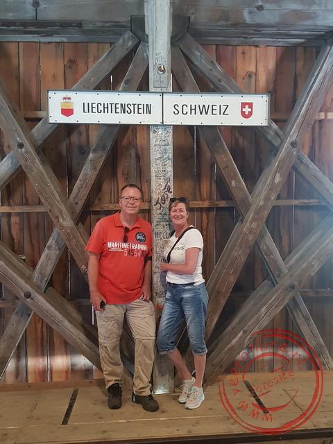De grens tussen Liechtenstein en Zwitserland