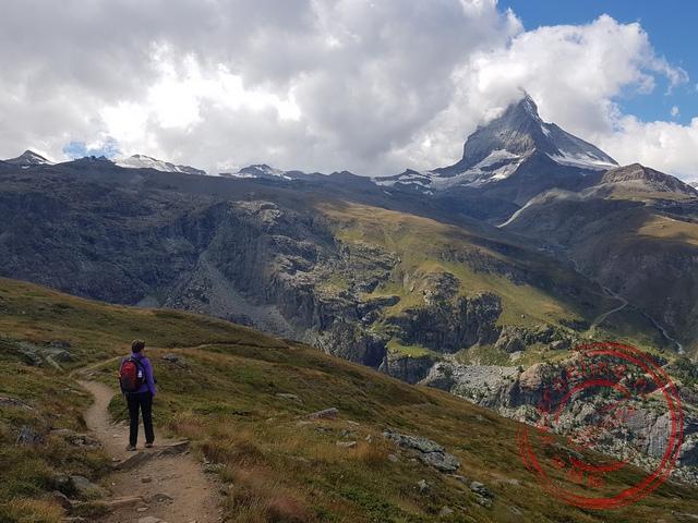 De afdaling naar Zermatt is prachtig