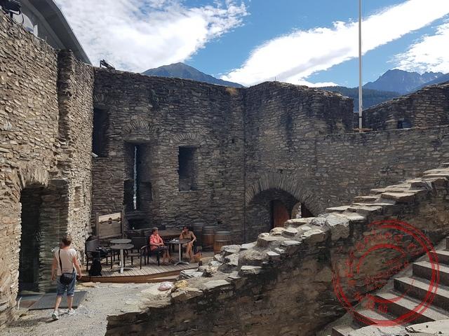 Het La Batiaz kasteel in Martigny